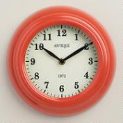 Coral Retro Wall Clock