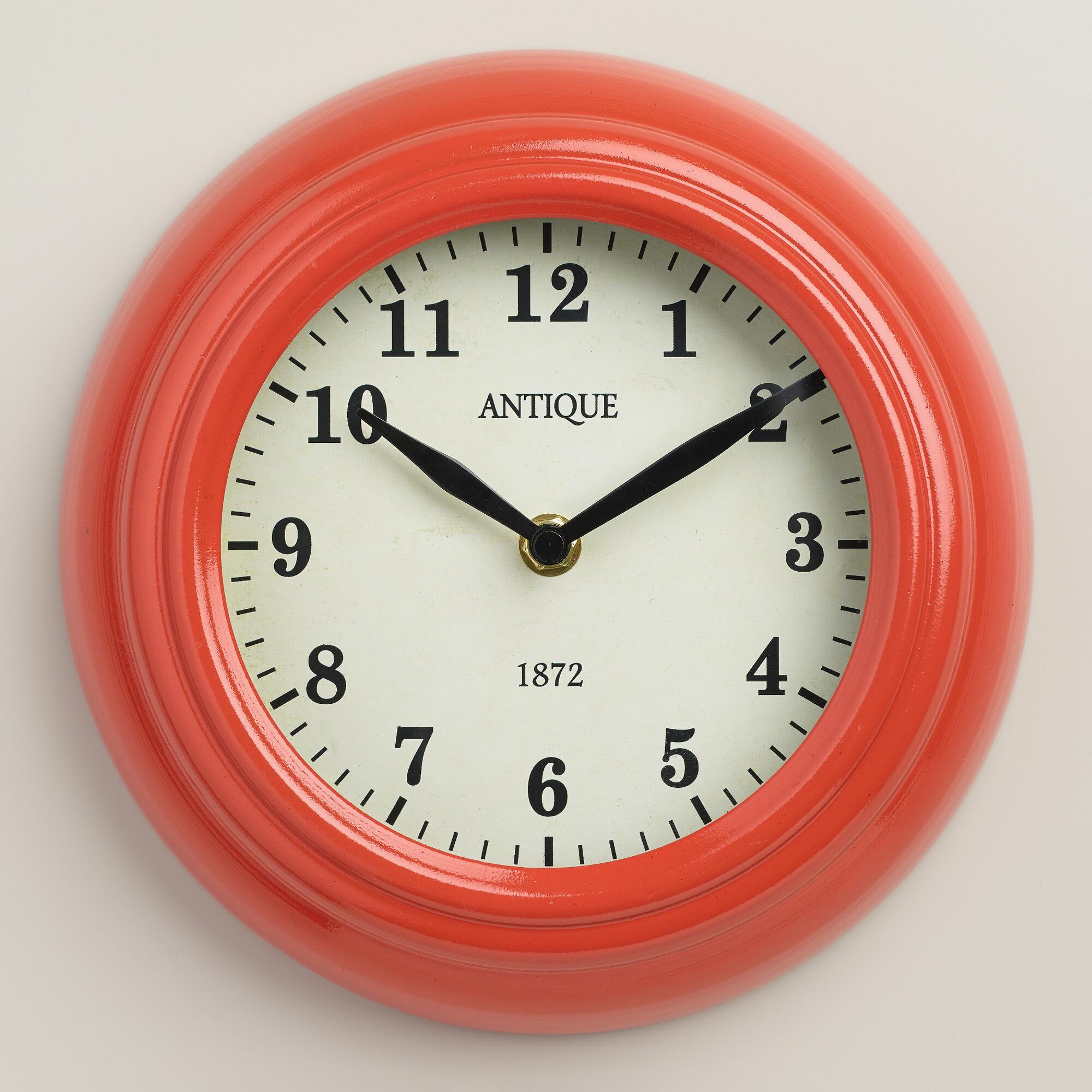 Coral retro wall clock world market - Mondaine wall clock cm ...