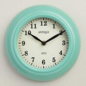Aqua Retro Wall Clock