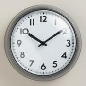 Pewter Adrian Wall Clock