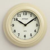 Ivory Retro Wall Clock