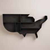 Black Metal USA Wall Storage