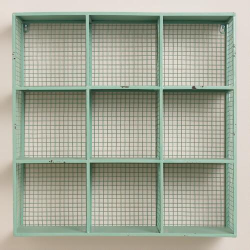 Aqua Braedyn Wire 9-Bin Wall Storage