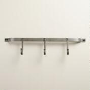 Zinc 3-Hook Metal Wall Storage