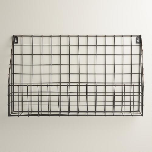 Black Braedyn Wire Wall Storage
