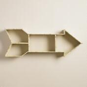 Ivory Metal Arrow Wall Storage