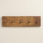 Hand-Painted Wood Shirin 5-Hook Wall Storage