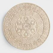 Whitewashed Round Wood Shaila Wall Decor