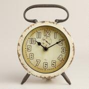Ivory Retro Avery Desk Clock