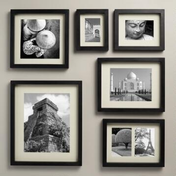 Black Wood Moda Wall Frame