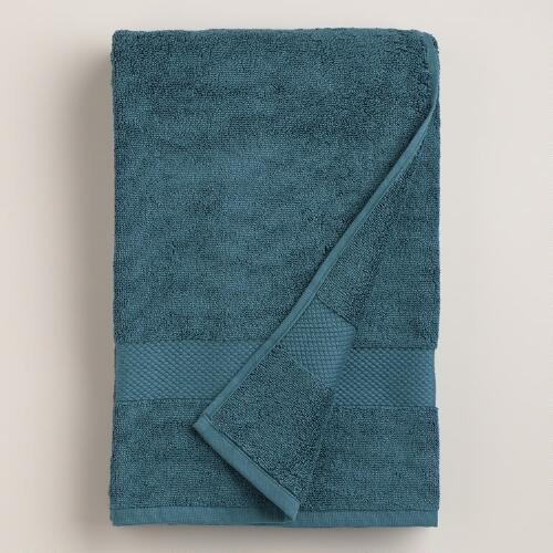 Ink Blue Cotton Bath Towel