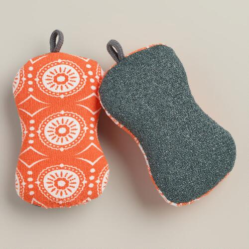 Coral Marrakesh 2-in-1 Kitchen Sponges, 2-Pack