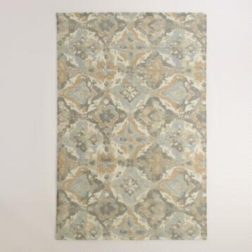 5'x8' Casablanca Tiles Wool Dhurrie Area Rug