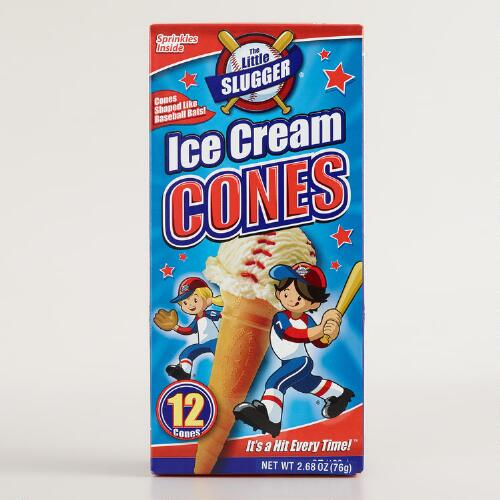 The Little Slugger Ice Cream Cones, 12-Count