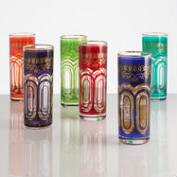 Tall Moroccan Tea Glasses, Set of 5