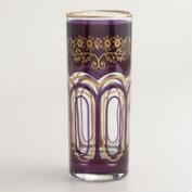 Plum Moroccan Tea Glasses, Set of 6