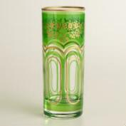 Green Moroccan Tea Glasses, Set of 6