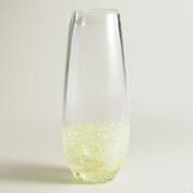 Green Confetti Stemless Champagne Flutes, Set of 4