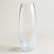 Blue Confetti Stemless Champagne Flutes, Set of 4