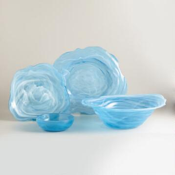Dark Lagoon Alabaster Serveware Collection