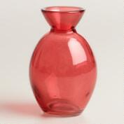 Spicy Coral Bud Vase, Set of 6