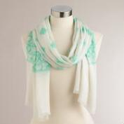 Mint and Ivory Bhuti Scarf