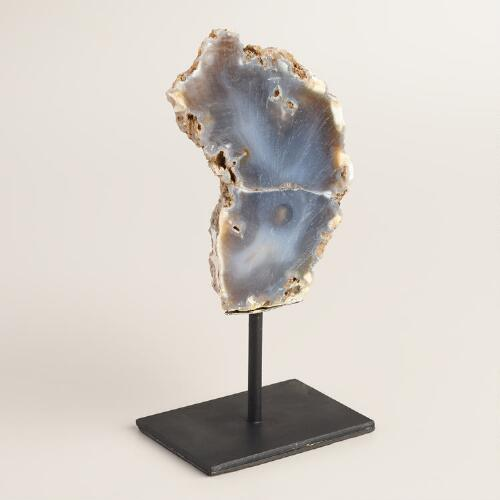 Polished Agate Stone on Stand