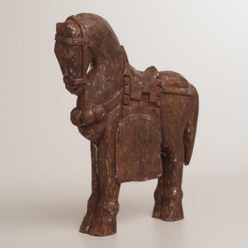 Brown Wooden Standing Horse