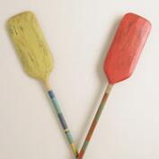 Large Wood Oars Decor, Set of 2