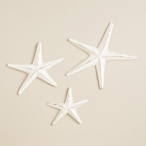 Wood Starfish Wall Decor, Set of 3