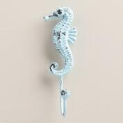 Cast Iron Seahorse Hook, Set of 2