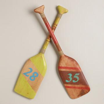 Wooden Oars Decor, Set of 2