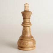 Carved Wood King Chess Piece Decor