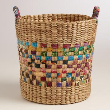 Batik Hyacinth Basket