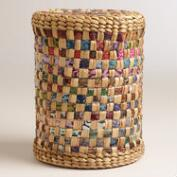Hyacinth Stool with Batik