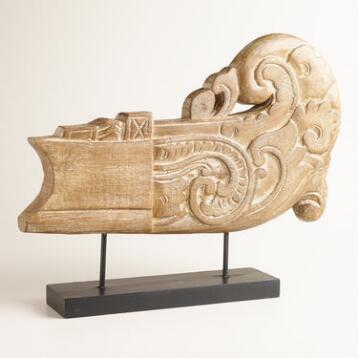 Albasia Carving on Stand