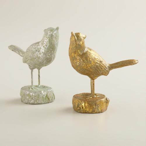 Small Decorative Birds, Set of 2