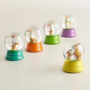 Mini Easter Waterglobes, Set of 5