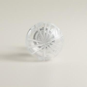 Etched Glass Knobs, Set of 2