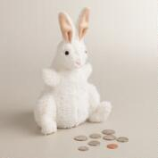 Plush Rabbit Coin Bank