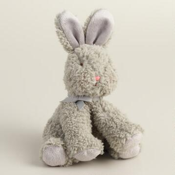 Gray Stuffed Bunny