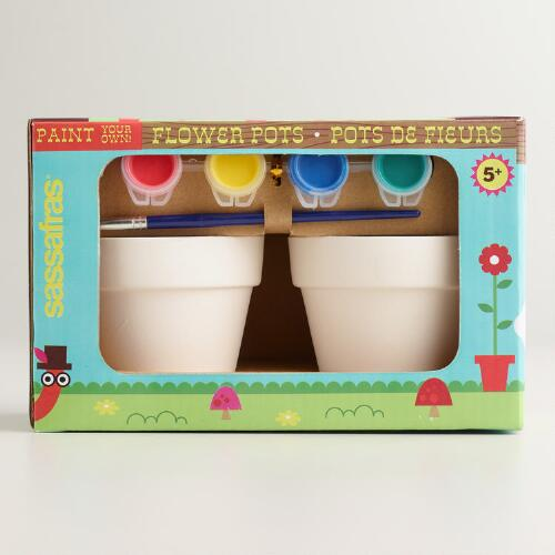Paint Your Own Flowerpots, 2-Pack