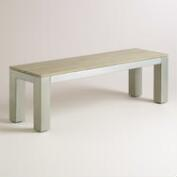 Wood and Metal Pelagia Dining Bench