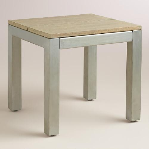Wood and Metal Pelagia Dining Stool