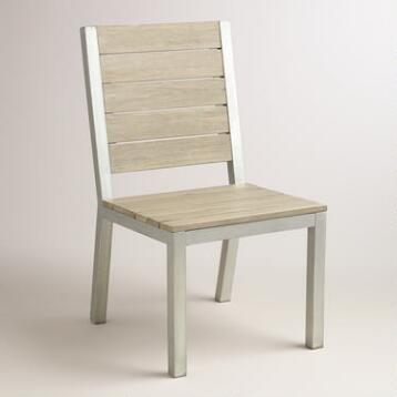 Wood and Metal Pelagia Dining Side Chair