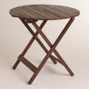 Round Wood Mika Folding Dining Table