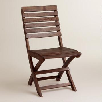 Wood Mika Folding Chairs, Set of 2