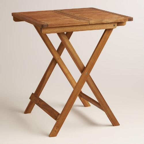 Wood Cameron Square Folding Table