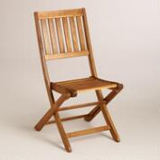 Wood Cameron Folding Chairs, Set of 2