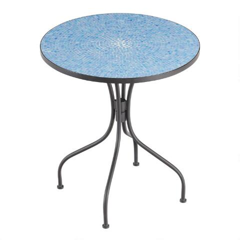 Peacoat blue cadiz bistro table world market for Table 7 bistro